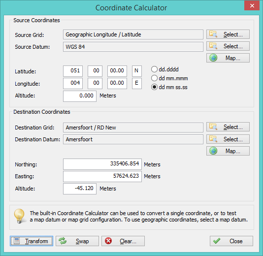 Free download Eye4Software Coordinate Calculator for windows 10 pro