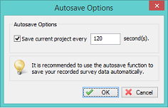 Autosave options