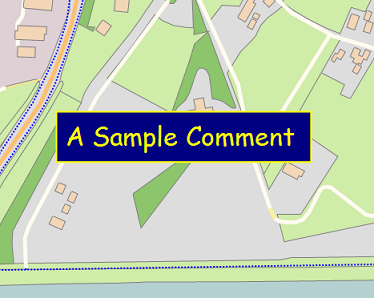 Sample map comment