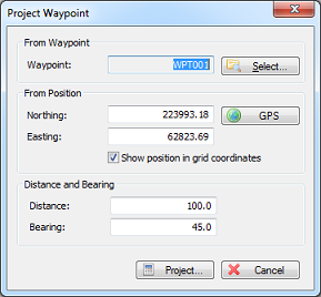Projecting Waypoints